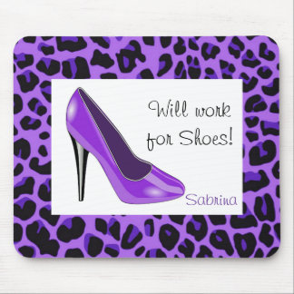 Purple High Heel Mouse Pad