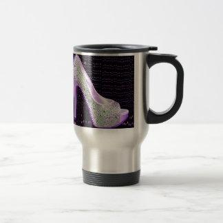 Purple High Heel 15 Oz Stainless Steel Travel Mug