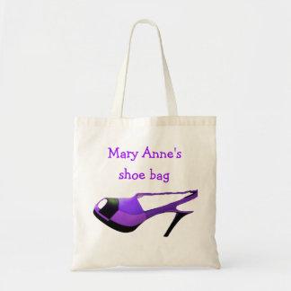 Purple High Heel Protective Shoe Bag
