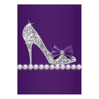 Purple High Heel Shoe Business Cards