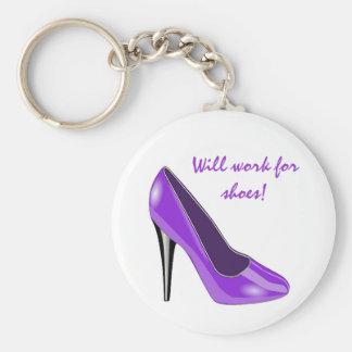 Purple High Heel Shoe Keychain