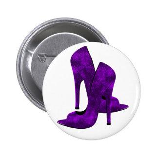 Purple High Heel Shoes Pins