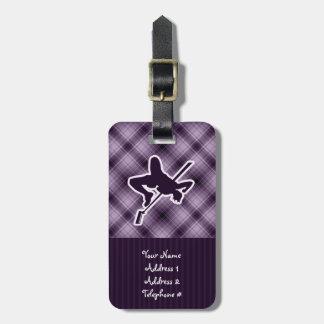 Purple High Jump Luggage Tags
