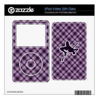 Purple High Jump Decal For The iPod Video