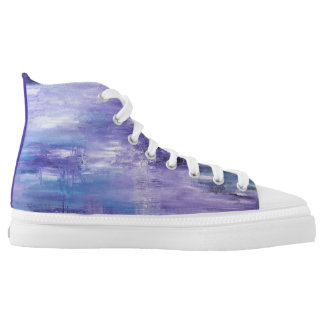 Purple hightops designed by DAL High-Top Sneakers