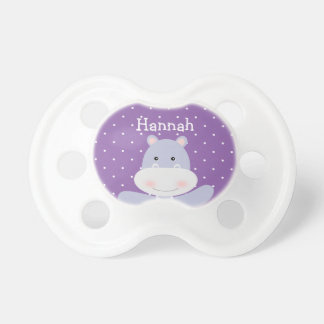 Purple Hippo Ballerina baby girl's pacifier