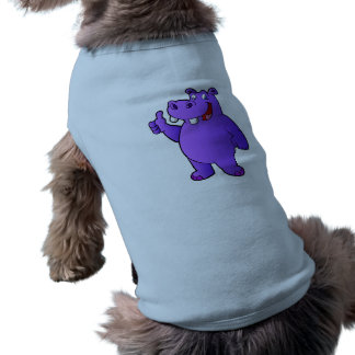 purple hippo cartoon shirt