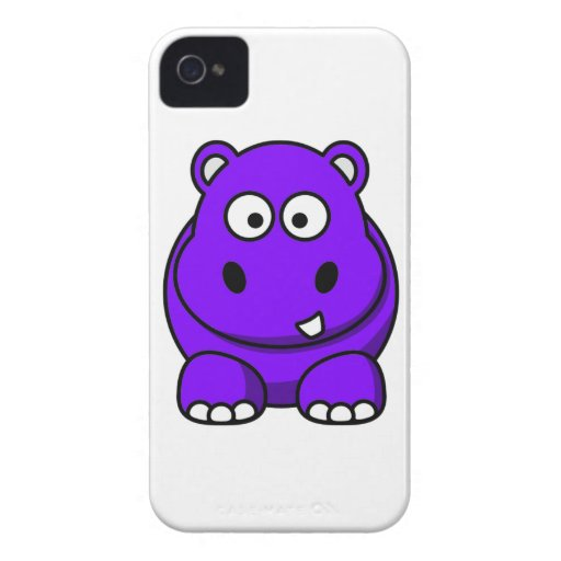 Purple Hippo Case iPhone 4 Covers