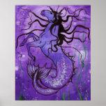 Purple Hippocamp Poster