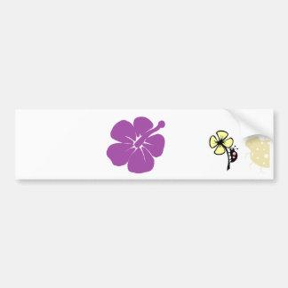 purple hisbiscus A Bumper Sticker