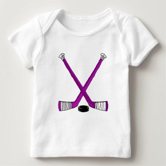purple hockey baby T-Shirt
