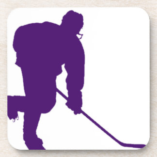 PURPLE HOCKEY PLAYER COASTER