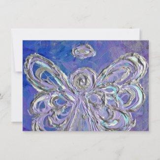 Purple Holiday Angel Custom Invites or Invitations