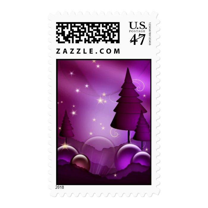 Purple Holiday Stamp