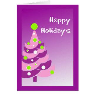 Purple Holiday Tree Card