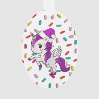 Purple Holiday Unicorn and Sprinkles Christmas