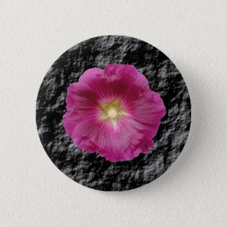 Purple Hollyhock Flower Button