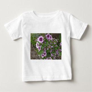 Purple Hollyhocks Baby T-Shirt