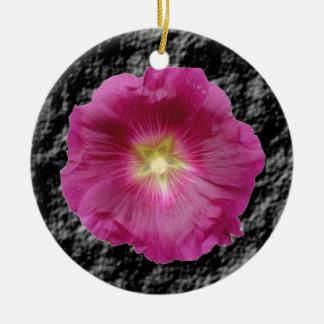 Purple Hollyhocks Ornament