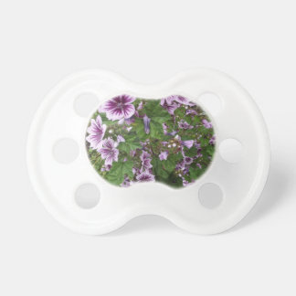 Purple Hollyhocks Pacifier