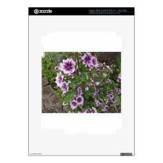 Purple Hollyhocks Skins For iPad 3