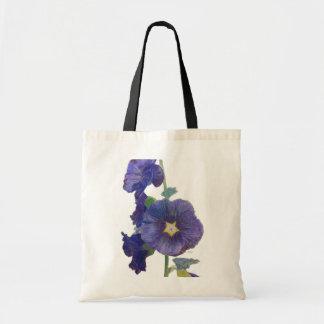 Purple Hollyhocks Tote Bag