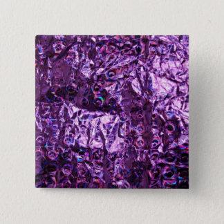 Purple Hologram Paper Button