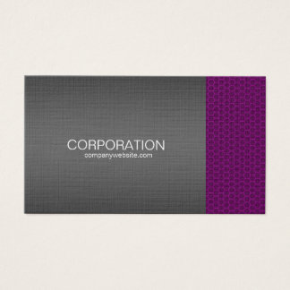 Purple honey comb elite business card