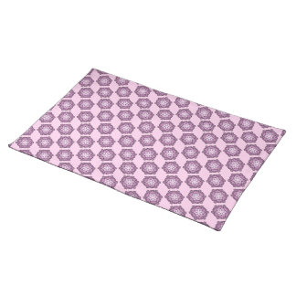 Purple Honeycomb Cloth Placemat