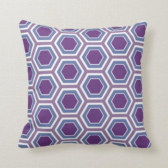 Purple Honeycomb Pillow