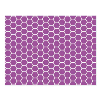 Purple Honeycomb Postcard