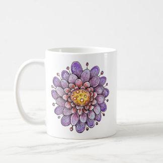 Purple Hoopla Flower Coffee Mugs