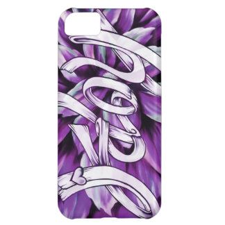 Purple hope floral pancreatic cancer awareness Art Cover For iPhone 5C