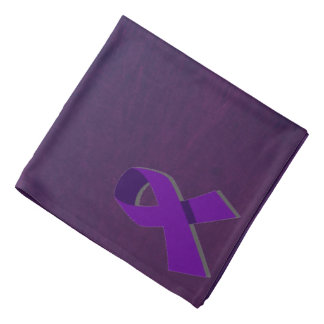 Purple Hope From the Darkness Bandana