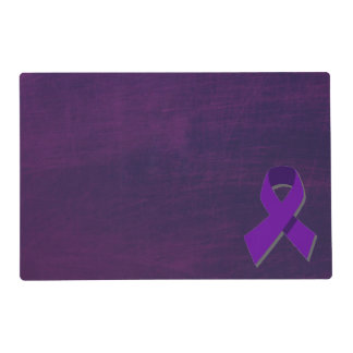 Purple Hope From the Darkness Laminated Placemat