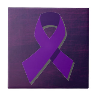 Purple Hope From the Darkness Small Square Tile