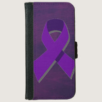 Purple Hope From the Darkness Wallet Phone Case For iPhone 6/6s