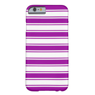 Purple Horizontal Stripe Barely There iPhone 6 Case