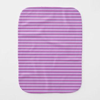 Purple Horizontal Stripes Burp Cloth