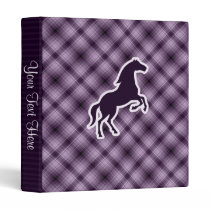 Purple Horse 3 Ring Binder
