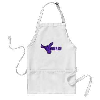 Purple Horse Adult Apron