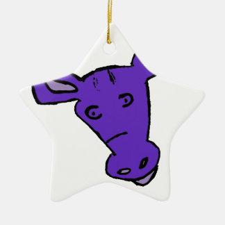 Purple Horse Ceramic Ornament