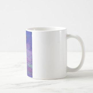 Purple Horse close-up, IN A RAINBOW PURPLE FIELD Coffee Mug