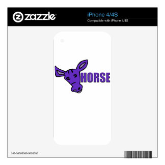 Purple Horse Decals For iPhone 4S