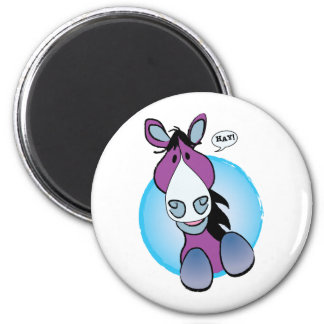 Purple Horse Hay! Magnet