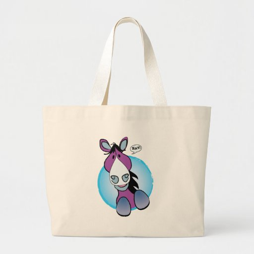 Purple Horse Hay! Tote Bag