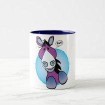 Purple Horse Hay! Two-Tone Coffee Mug