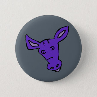 Purple Horse Pinback Button