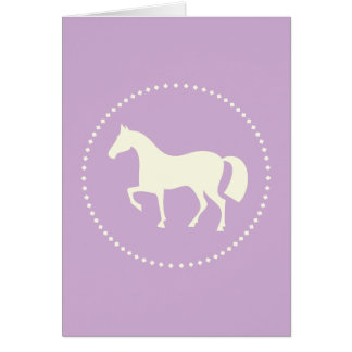 Purple horse/pony greeting cards (vertical)