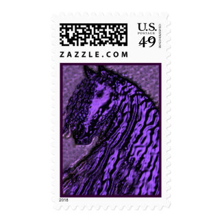 Purple Horse Postage Stamps #1